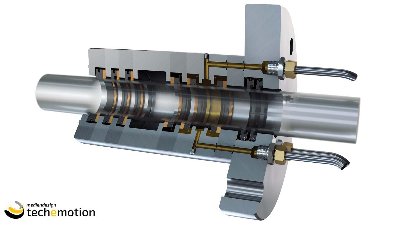 """Hoerbiger XperSEAL Für das Unternehmen HOERBIGER wurde das neu entwickelte Produkt """"XperSEAL"""", anhand von CAD Zeichnungen, 3D – visualisiert und animiert!  Copyright TECHEMOTION Mediendesign"""